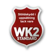 Stöldskydd i uppsättning tack vare WK2 Standard