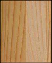 Lackerat trä supermatt, utseende på obehandlat trä (jämförelse till obehandlat trä)